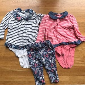Lot of 2 Baby Gap long sleeve tops and 1 legging